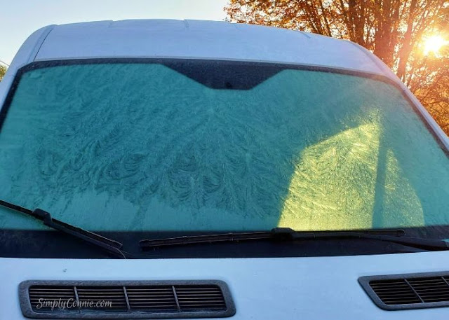 A gift from Jack Frost on the windshield