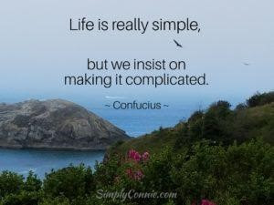 life is really simple