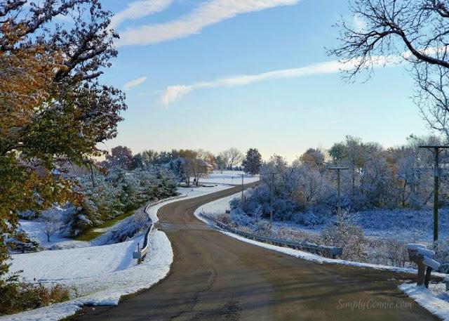Winter roads Northwest Illinois