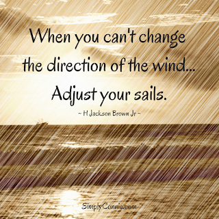 When you can't change the direction of the wind, adjust your sails.