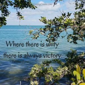Where There Is Unity There Is Victory