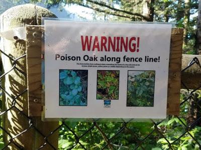 poison oak warning