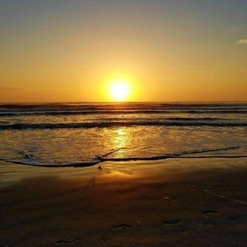 Crescent Beach FL at sunrise