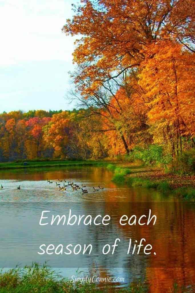 Embrace each season of life