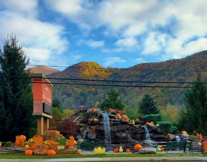 Autumn decor in Maggie Valley NC